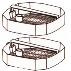 ND: sada plastových košíků pro Atman CF-1200, AT-3338, 3 ks