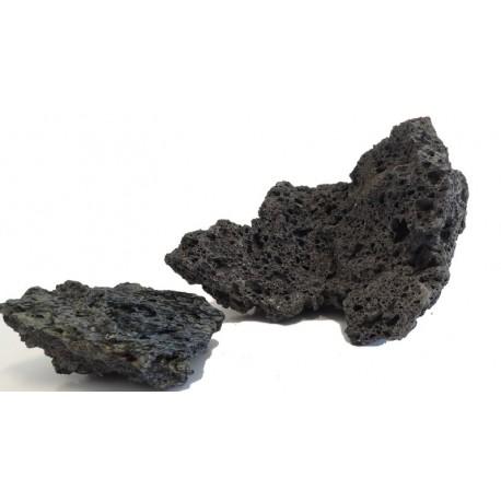 Lávový dekorační kámen černý - velikost L