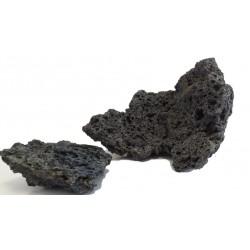 Lávový dekorační kámen černý - velikost S