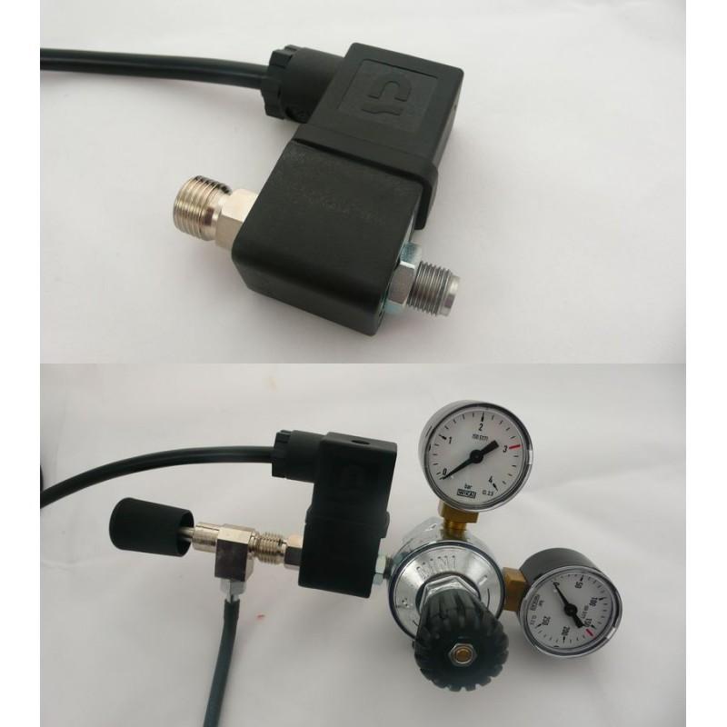 Ruwal elektromagnetický CO2 ventil s napojením na závit